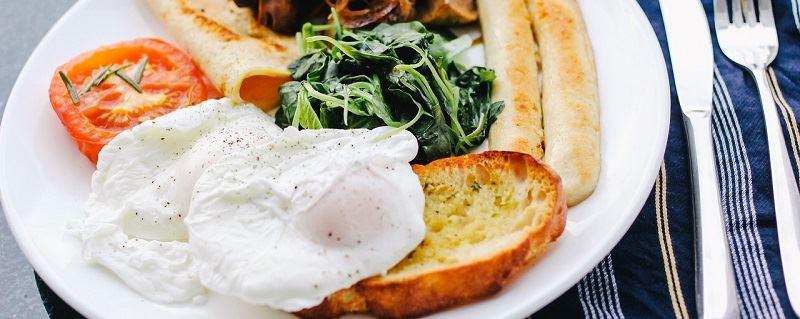 typowe brytyjskie śniadanie