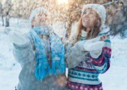 Senior zimą