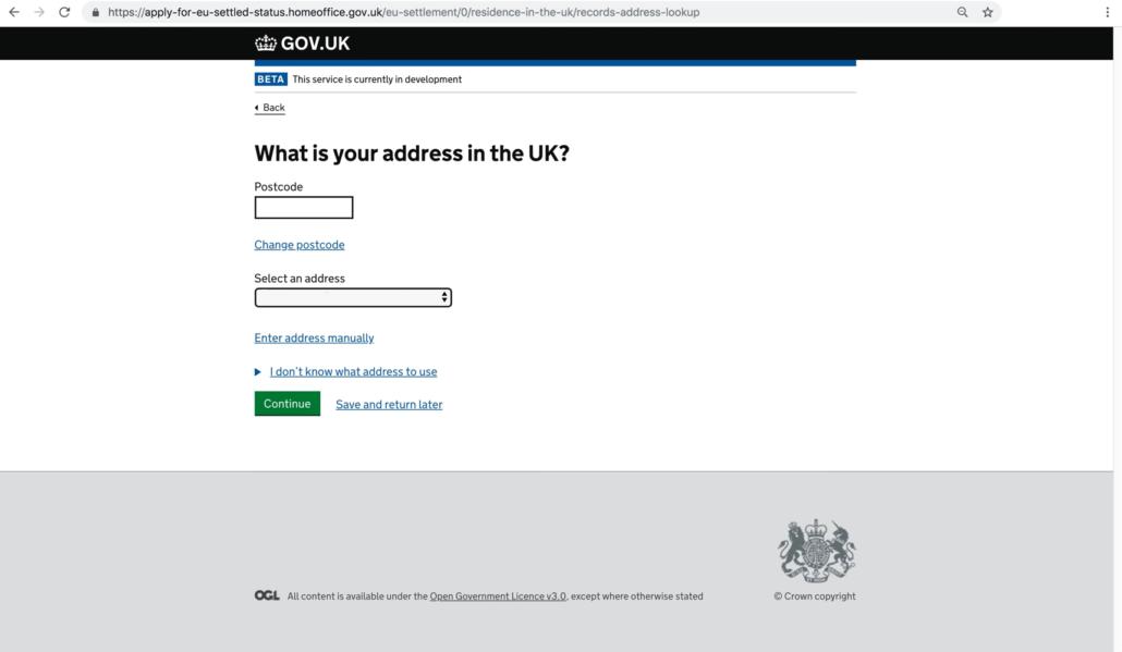 System osiedleńczy UK